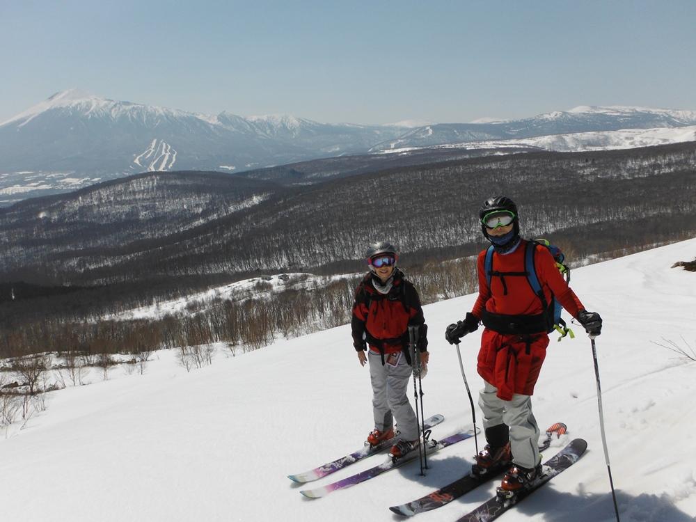 スキーで森2