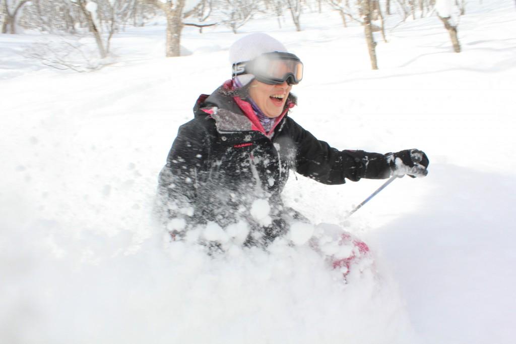 スキーで森3
