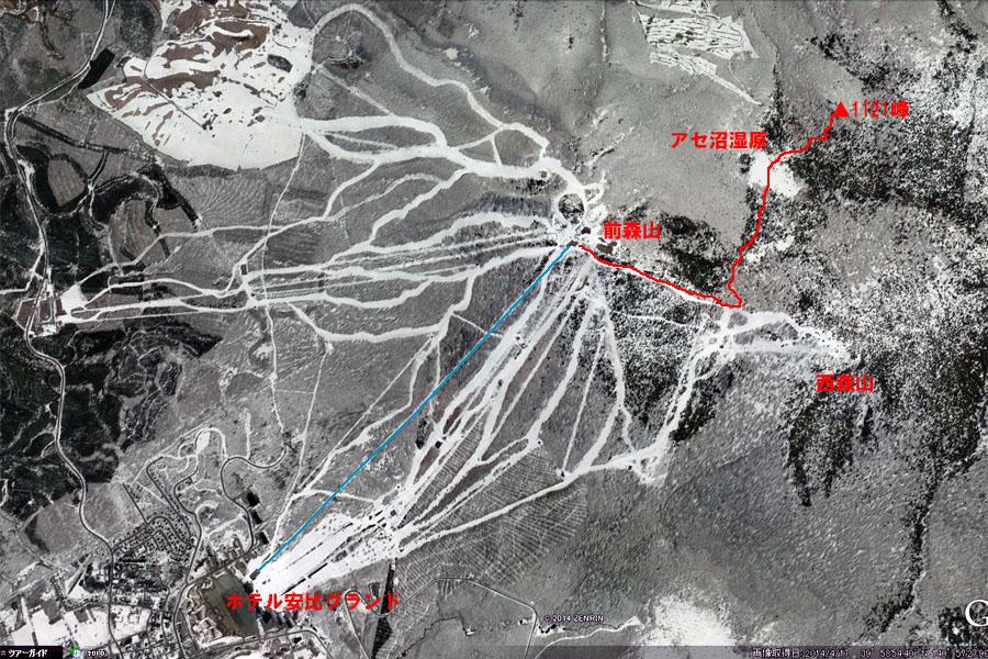 アセ沼ツアーマップ