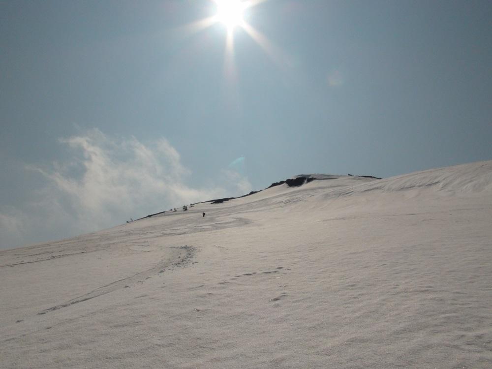 大岳大滑降