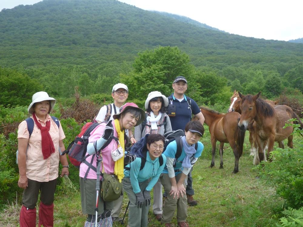 馬記念撮影
