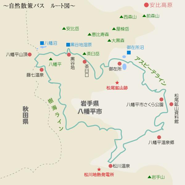 自然散策バスルート図