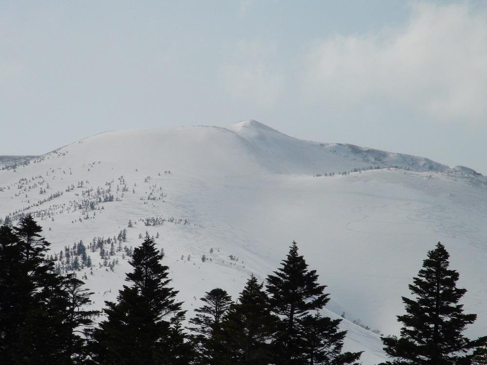 井戸岳雪渓