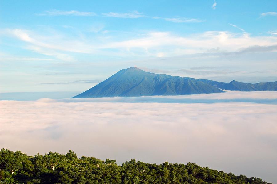 前森山山頂から見た雲海の岩手山