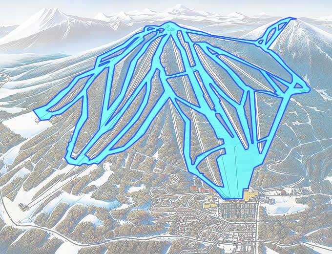 安比高原スキー場 滑走可能エリア