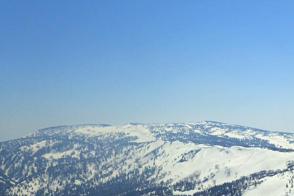 積雪期限定ルートで大深岳