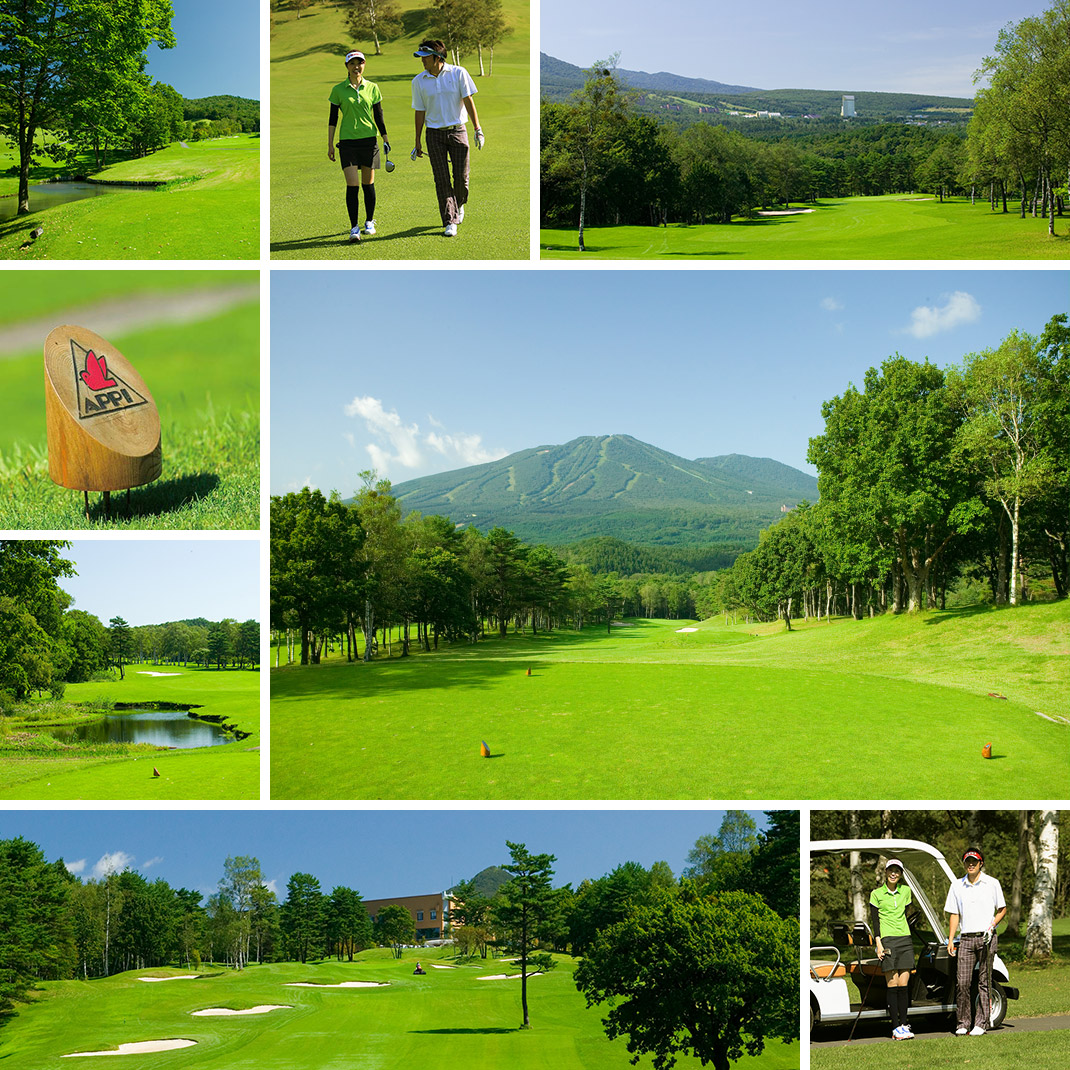 安比高原ゴルフ場 春の模様